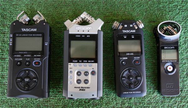 Zoom H4N vs Tascam DR-40