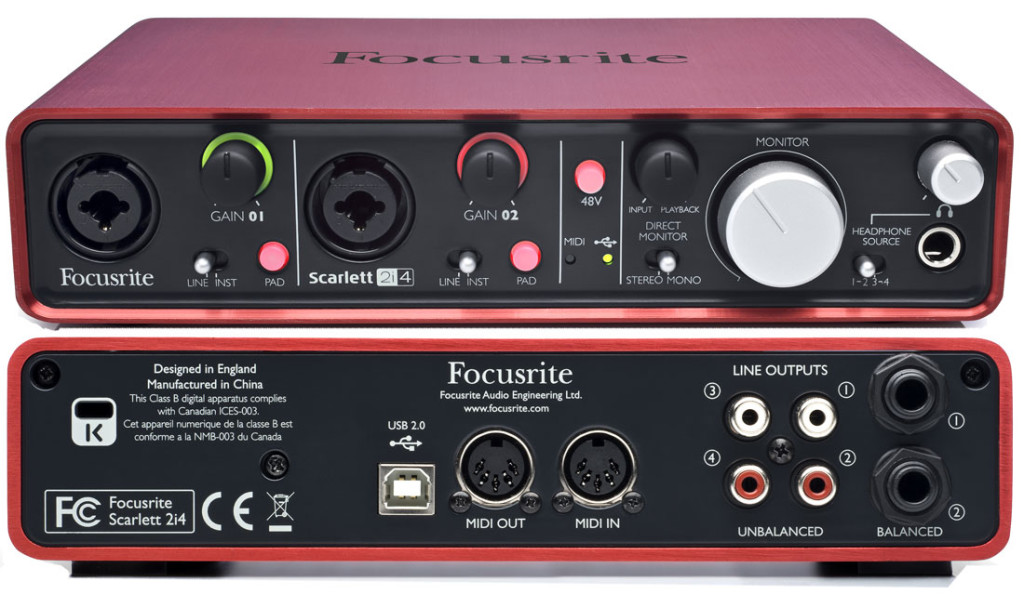 Focusrite Scarlett 2i2 Vs 2i4